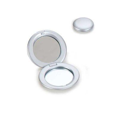 Energia Brindes - Espelho personalizado, em plástico resistente metalizado.