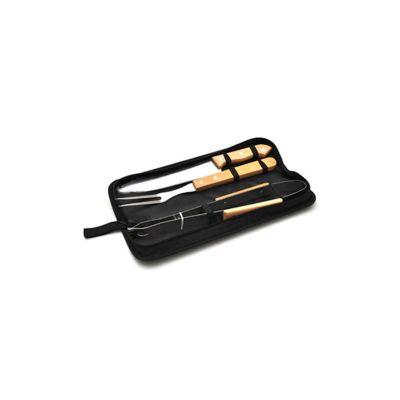 Energia Brindes - Kit churrasco personalizado com 3 peças.