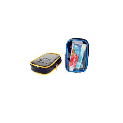 - Kit higiene personalizado com: 01 Creme dental (Colgate Total 12) 30g, 01 Escova dental Viagem pocket, 01 Fio dental sachet 45cm, 01 Estojo. É o brind...