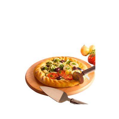 - Kit pizza personalizado. O Conjunto é composto por 03 peças, sendo 01 taboa de madeira, 01 espátula e um cortador em metal. O Kit para pizza é o prese...