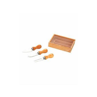 - Kit queijo personalizado de madeira com 3 peças. É o presente ideal para distribuir para clientes e colaboradores.