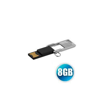 energia-brindes - Pen drive personalizado Modelo PB. Capacidade 8GB, impressão da logomarca em tampografia. Embalado individualmente em sacos plásticos