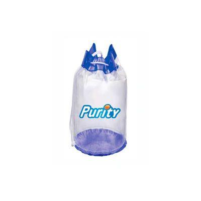 Energia Brindes - Mochila saco de PVC personalizada. Nas medidas de 43 x 25 cm. Impressão da logomarca em silk.