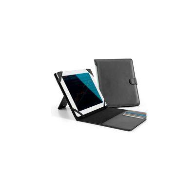 Pasta para tablet, couro sintético e personalização da logomarca em baixo relevo