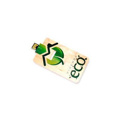 energia-brindes - Pen drive cartão personalizado em madeira.