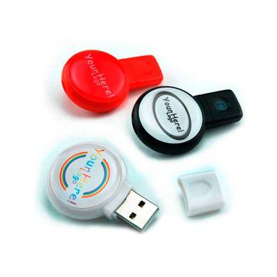 energia-brindes - Pen drive personalizado com impressão da logomarca em etiqueta resinada.