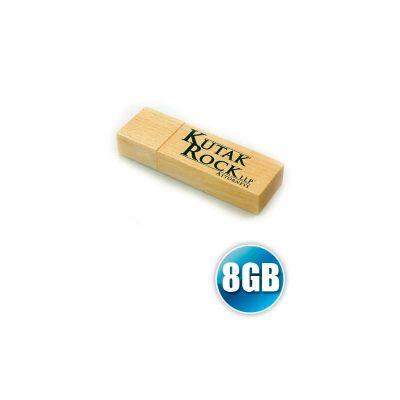 energia-brindes - Pen drive Ecológico em madeira com 8GB de capacidade.