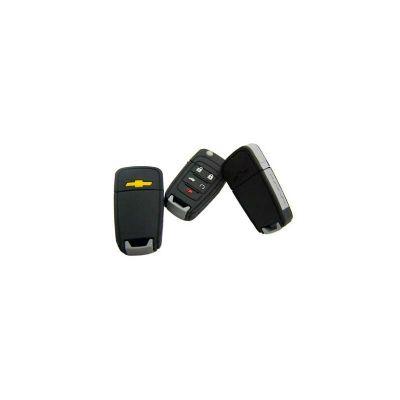 Pen drive Emborrachado personalizado. Formato de chave de carro, capacidade de 4GB. Produto embalado individualmente em saquinhos plástico