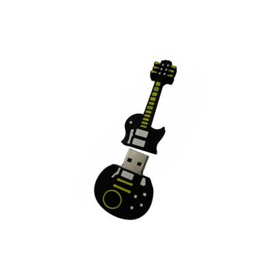 Energia Brindes - Pen drive personalizado em formato de guitarra.