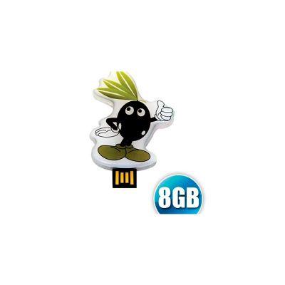 Energia Brindes - Pen drive estilizado em acrílico, capacidade 8GB. Impressão da logomarca em impressão digital