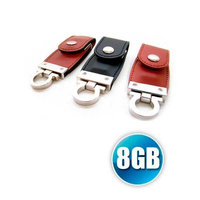 Energia Brindes - Pen drive chaveiro de couro personalizado.