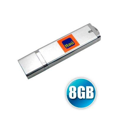 energia-brindes - Pen drive com capacidade de 8GB e personalização da logomarca em laser.