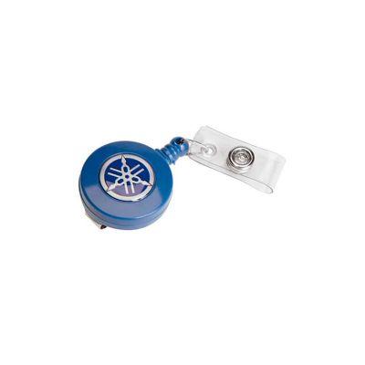 Porta crachá retrátil personalizado com gravação em etiqueta resinada. - Energia Brindes