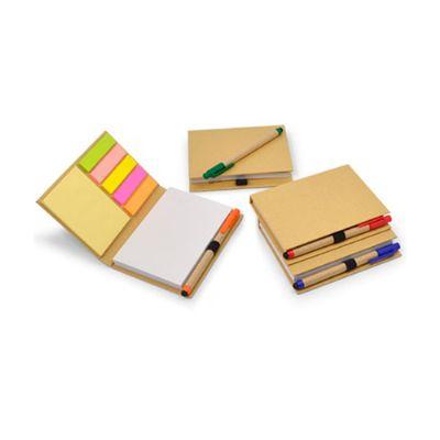 Energia Brindes - Porta sticky notes colorido personalizado.