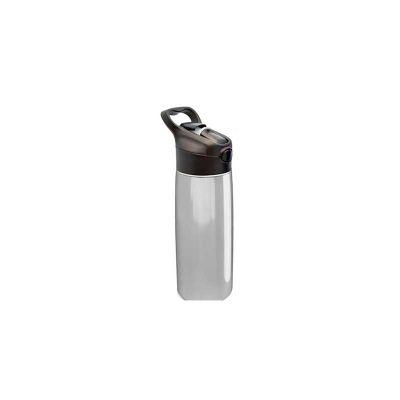 energia-brindes - Squeeze de inox, Gravação Personalizada, acionamento através de botão, conta com canudo interno para maior comodidade