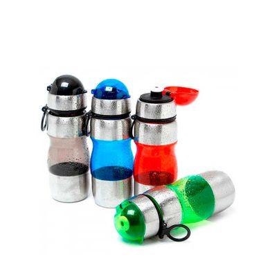 - Squeeze de Inox personalizado. Com detalhes em plástico e inox. Com cores variadas e capacidade de 450 ml é o brinde personalizado ideal para fideliza...