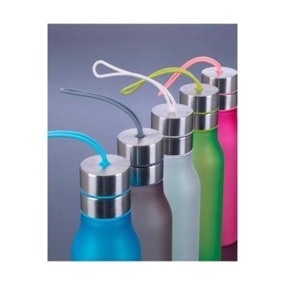 energia-brindes - Squeeze Plástico com Detalhes em Metal