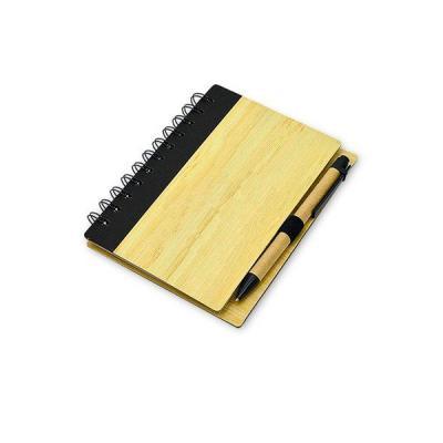 Energia Brindes - Bloco Promocional com capa de Bambu