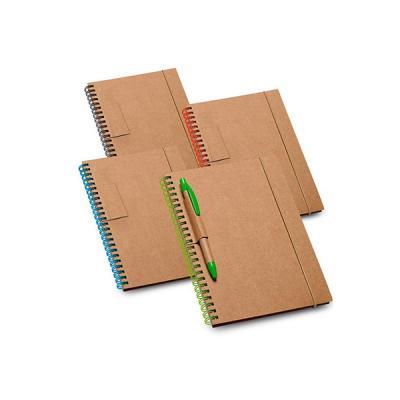 Energia Brindes - Caderno Ecológico Promocional | Bloco de anotações personalizado, com 70 folhas, ecológico, com espiral e alça, acompanha caneta. É o brinde personali...