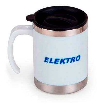 Energia Brindes - Canecas em Aluminio Personalizada | Caneca personalizada térmica 400 ml, em aço inox revestida em plástico, com tampa plástica e fecho rotacional. Dis...