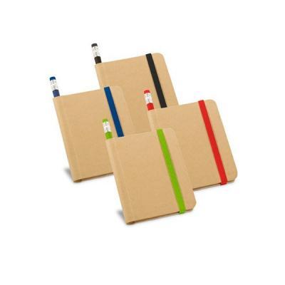 energia-brindes - Caderno capa dura com lápis para brindes