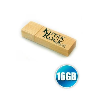 energia-brindes - Pendrive 16GB de Madeira Personalizado