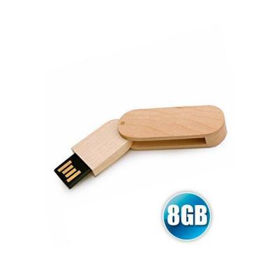 Energia Brindes - Pen drive 8 GB Ecológico Giratório para Brindes