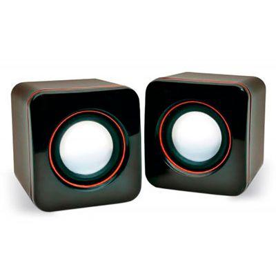 Energia Brindes - Mini Caixa de Som Portátil Personalizada | mini caixa de som portatil usb. Personalizada, com cabo USB e controle de volume. Impressão da logomarca em...