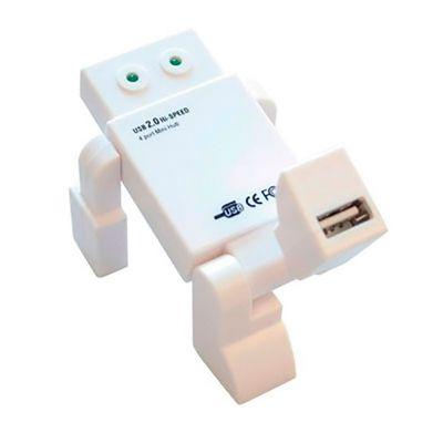Hub Personalizado para Brinde Robô | Hub Personalizado em forma Robô com 4 portas USB 2.0 e personalização da logo em tampografia. É o brinde personal... - Energia Brindes