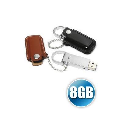 PEN DRIVE 8 GB EM COURO PARA BRINDE PERSONALIZADO