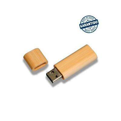 Energia Brindes - Pen drive 4 GB de Bambu Personalizado