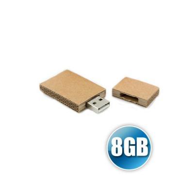 Energia Brindes - Pen drive 8GB Papel Reciclado Personalizado