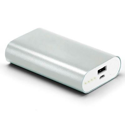 energia-brindes - Portátil em Alumínio com 02 Baterias   Bateria Externa Portatil Iphone