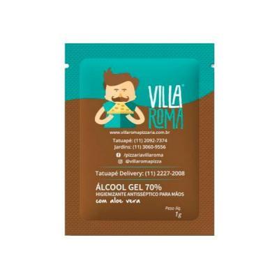 Sachê de Álcool em gel Personalizado - Energia Brindes