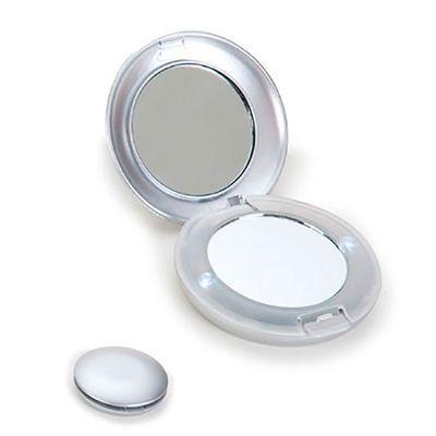 Energia Brindes - Espelho para Bolsa Personalizado | Espelho personalizado, duplo e com dois pontos de luz laterais. A impressão da logomarca é feita em tampografia. É...