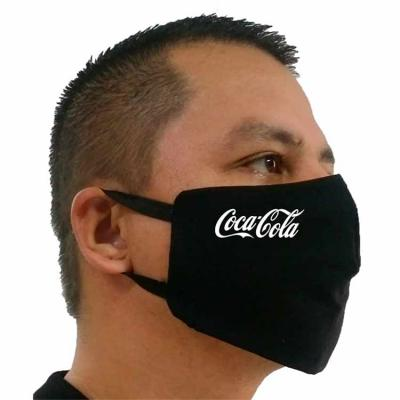 Máscara em tricoline 10% algodão. Preta ou branca De amarrar, ou com elástico Personalizada com s...