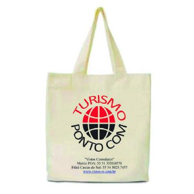 Rose Sacolas - Sacola ecológica promocional personalizada, tecido 100% algodão Cru 160 gramas, Tamanho 30x38 cm, alça de algodão cru ou colorida, impressão em silk s...