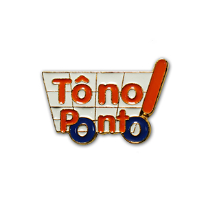 art-show-brindes - Pin personalizado, confeccionado em metal, com gravação do logo em alto ou baixo relevo, recorte especial, resinado, esmaltado, opção de banho dourado...