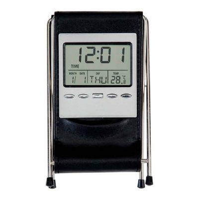 Make Brazil - Porta caneta em couro sintético com relógio personalizado