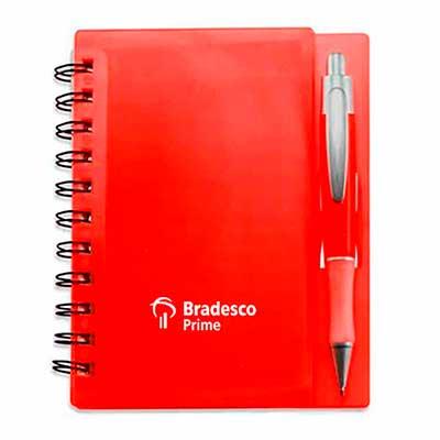 Bloco de anotação com caneta personalizada. - Make Brazil