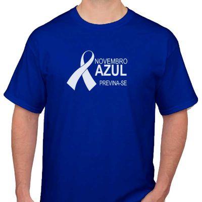 Camiseta novembro azul personalizada