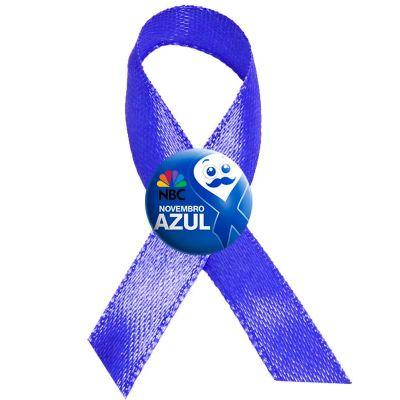 Make Brazil - Laço cetim novembro azul personalizado com resina