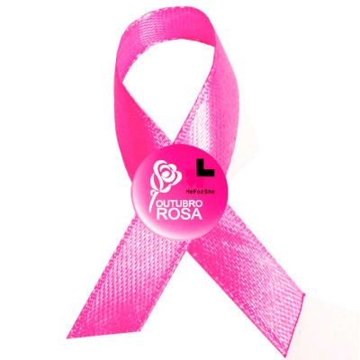 Laço Outubro rosa personalizado - Make Brazil