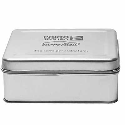 Caixa metálica com diversas opções de formatos e tamanhos. - Make Brazil