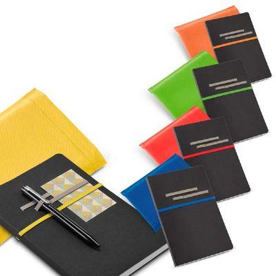 btm-brindes - Caderno em couro sintético com folhas não pautadas