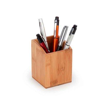 Porta canetas em bambu - BTM Brindes