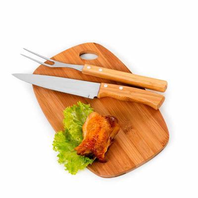 Kit churrasco 3 peças em bambu
