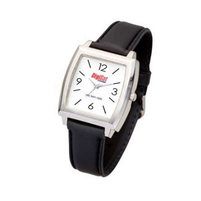 btm-brindes - Relógio de pulso com pulseira em couro sintético ou metal