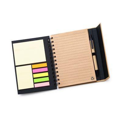 btm-brindes - Caderno de anotações com fechamento de imã na aba externa