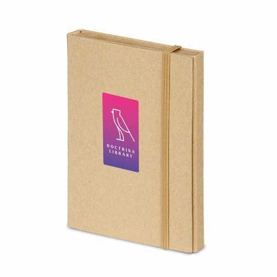 Kit para escritório. Cartão. Com caderno (80 folhas pautadas em papel reciclado), 6 blocos adesiv...
